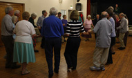 Wednesday evening folk dancing at Holloway 2