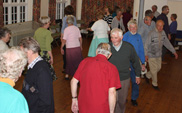 Wednesday evening folk dancing at Holloway 10
