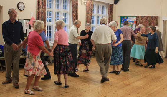 Wednesday evening folk dancing at Holloway